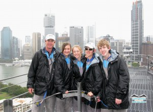 Story Bridge climb students