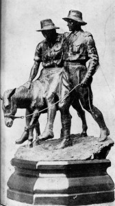 StateLibQld_1_117744_Statue_of_Simpson_and_his_donkey,_1919